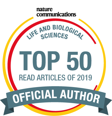 Nature Communications Top 50 Badge